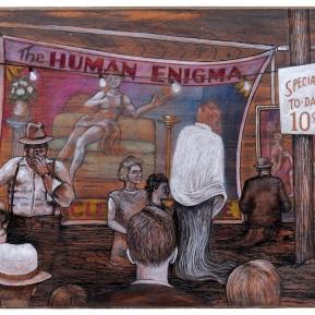 """Human Enigma"" 2019 - 17.5"" x 14"""